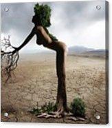 Woman Tree Art Acrylic Print