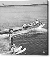 Woman Water Skiing Acrylic Print