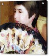 Woman With A Fan Acrylic Print