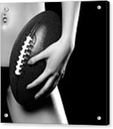 Woman With A Football Acrylic Print