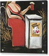 Woman With A Mug Of Beer Acrylic Print