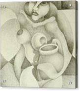 Woman With A Pitcher Acrylic Print by Dagmara Czarnota
