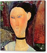 Woman With A Velvet Neckband Acrylic Print by Amedeo Modigliani