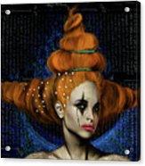 Woman With Big Hair Acrylic Print