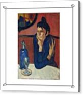 Woman With Coffee Femme Au Cafe Acrylic Print