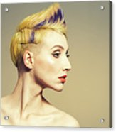 Woman With Funky Hairstyle Acrylic Print