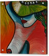 Woman With Hat Acrylic Print