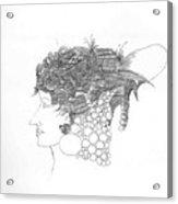 Woman with headgear Acrylic Print