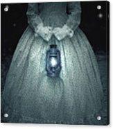 Woman With Lantern Acrylic Print