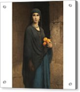 Woman With Oranges Acrylic Print