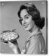 Woman With Pie, C.1950-60s Acrylic Print