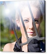 Woman With Pitchfork Acrylic Print