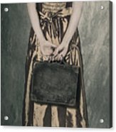 Woman With Suitcase Acrylic Print