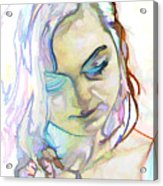 Women Body - Color Face1 Acrylic Print