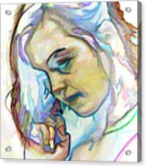 Women Body - Color Face2 Acrylic Print