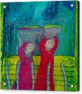 Women Carrying Wash Acrylic Print