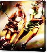 Women In Sports - Lacrosse Acrylic Print