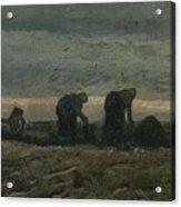 Women On The Peat Moor Nieuw Amsterdam, October 1883 Vincent Van Gogh 1853 - 1890 Acrylic Print