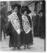 Women Strike Pickets From Ladies Acrylic Print by Everett