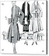 Womens Fashion, 1926 Acrylic Print
