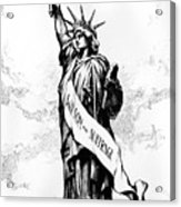 Womens Rights Cartoon, 1915 Acrylic Print