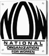 Womens Rights: Now Logo Acrylic Print