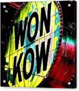 Won Kow, Wow 3 Acrylic Print by Marianne Dow