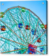 Wonder Wheel Amusement Park 1 Acrylic Print