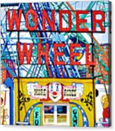 Wonder Wheel Amusement Park 10 Acrylic Print