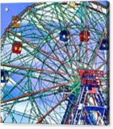 Wonder Wheel Amusement Park 3 Acrylic Print