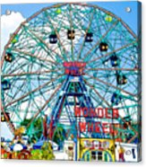 Wonder Wheel Amusement Park 6 Acrylic Print
