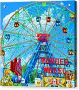 Wonder Wheel Amusement Park 7 Acrylic Print