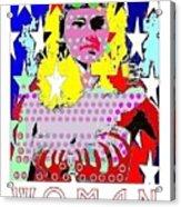 Wonder Woman Acrylic Print by Ricky Sencion