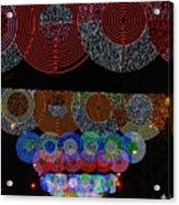 Wonderful And Spectacular Christmas Lighting Decoration In Madrid, Spain Acrylic Print
