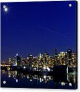 Wonderful Autumn Night In Port Vancouver Acrylic Print