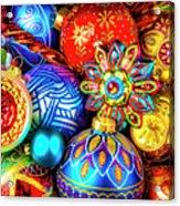 Wonderfully Beautiful Christmas Ornaments Acrylic Print