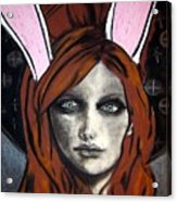 Wonderland Girls - Bunny Ears Close Up Acrylic Print