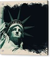Wonders Of The Worlds - Lady Liberty Of New York 2 Acrylic Print