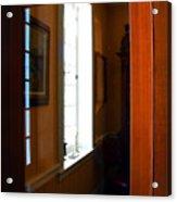 Wood And Glass Door Acrylic Print
