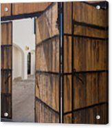 Wood And Iron Bi-fold Gate Acrylic Print
