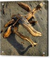 Wood And Sand Acrylic Print