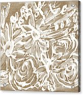 Wood And White Floral- Art By Linda Woods Acrylic Print