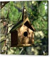 Wood Birdhouse Acrylic Print