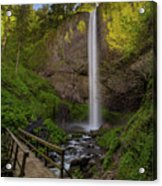 Wood Bridge At Latourell Falls Acrylic Print