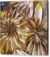 Wood Carved Dahlia Acrylic Print