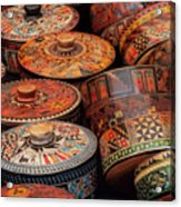 Wood Containers Acrylic Print