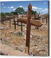 Wood Crosses In Taos Cemetery Acrylic Print