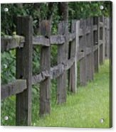Wood Fence Acrylic Print