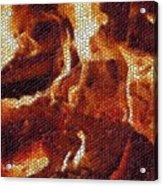 Wood Fire Mosaic Acrylic Print