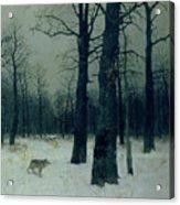 Wood In Winter Acrylic Print by Isaak Ilyic Levitan